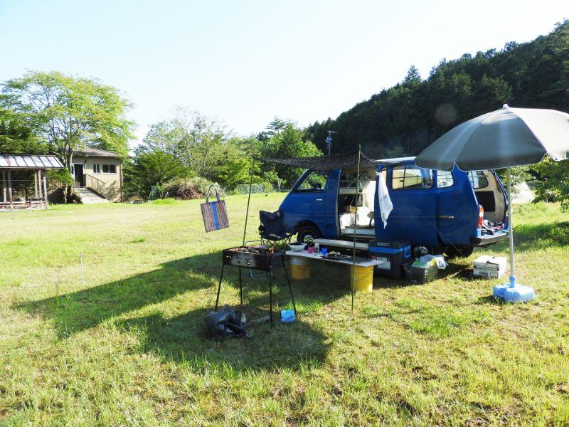 車を使ったキャンプ