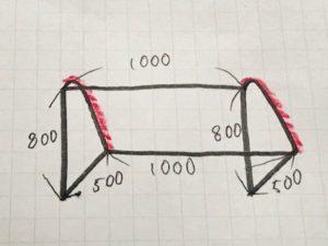 サッカーゴールの設計図