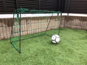 自作のサッカーゴール