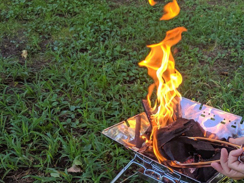 一人用の焚き火台