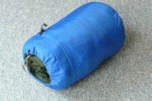 収納された寝袋